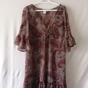 Fred David Paisley Dress